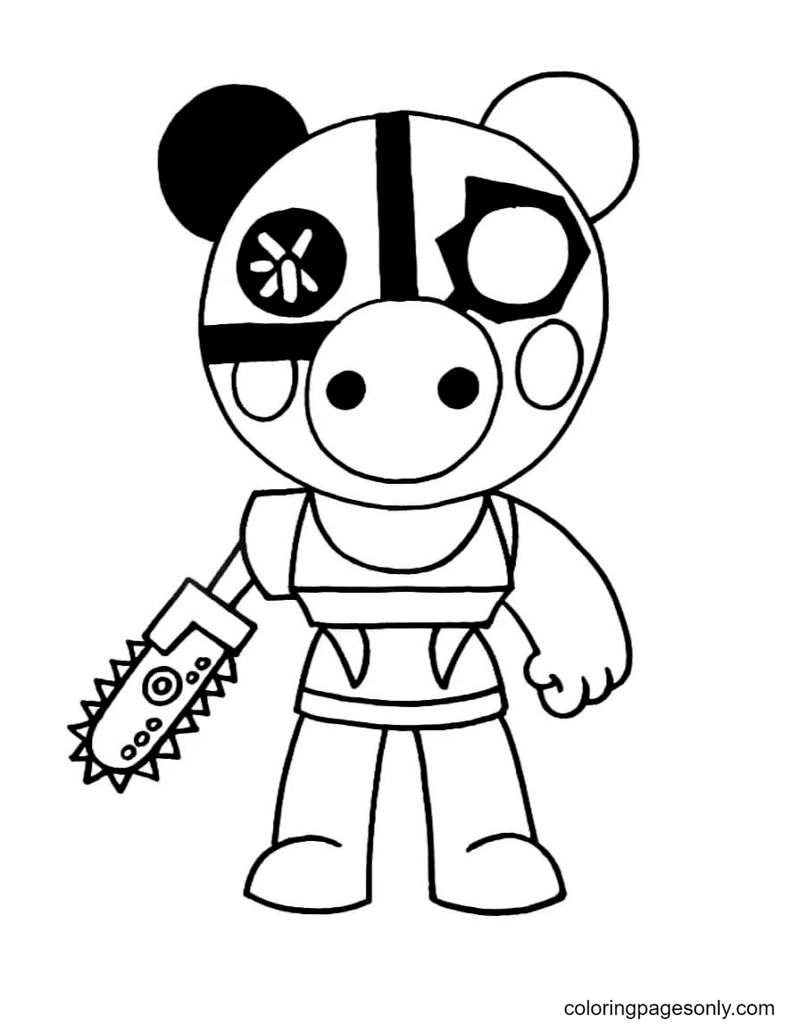Robby Piggy Coloring Page