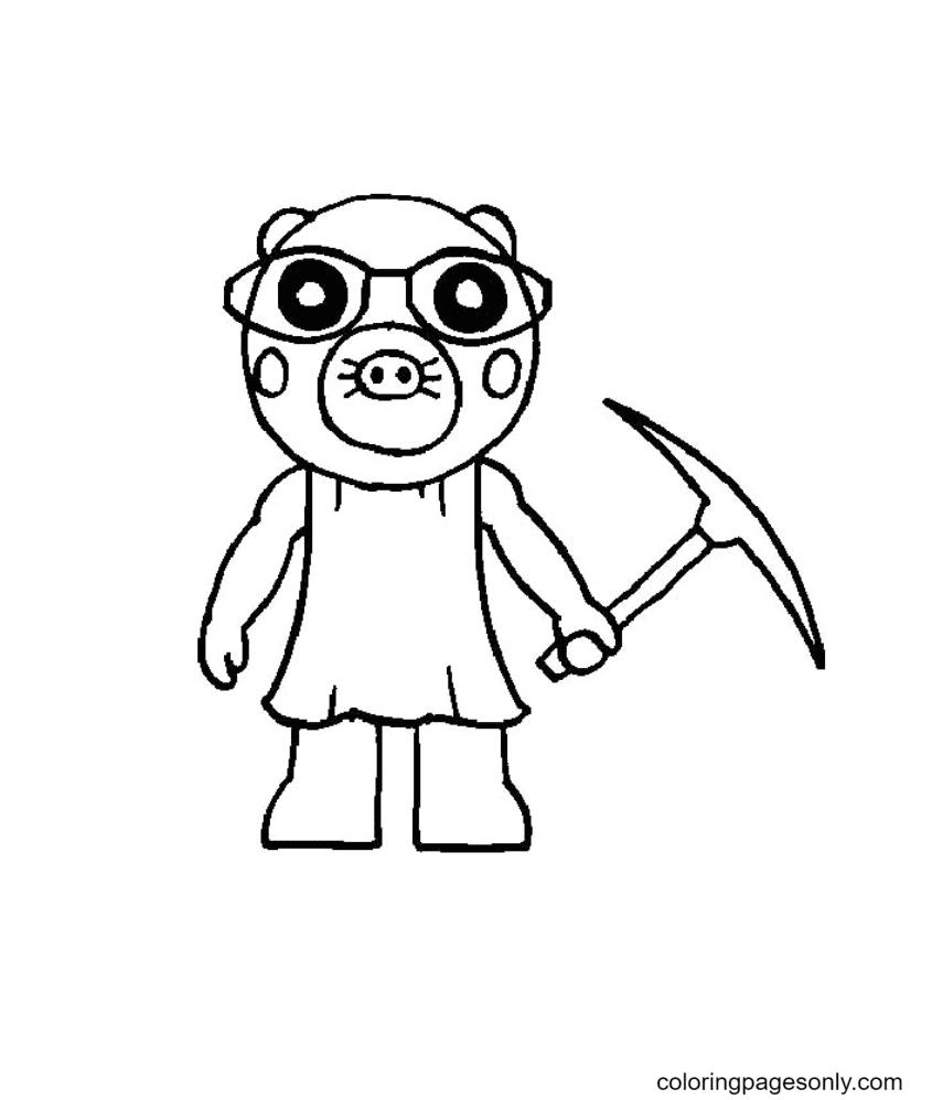 Roblox Piggy Mimi Coloring Page
