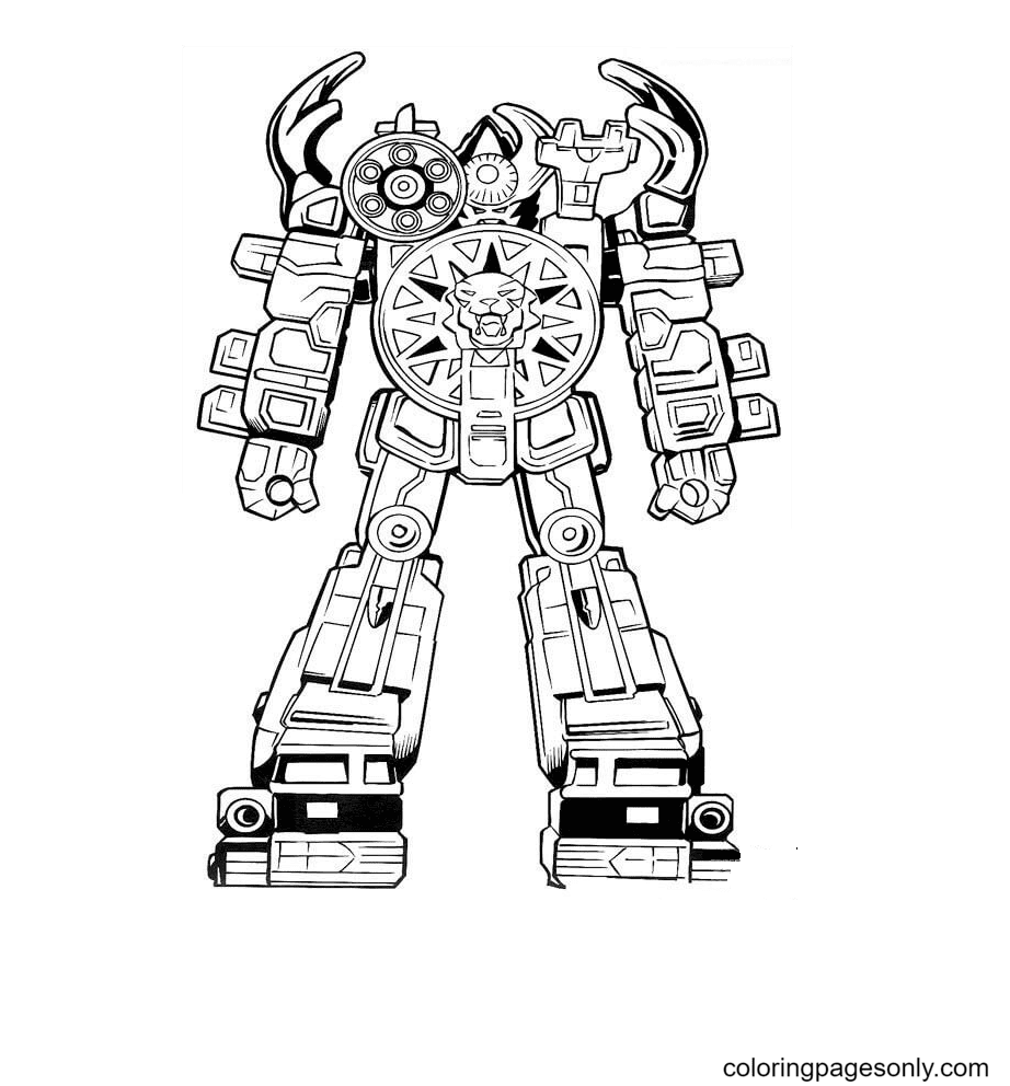 Robot Ranger Coloring Page