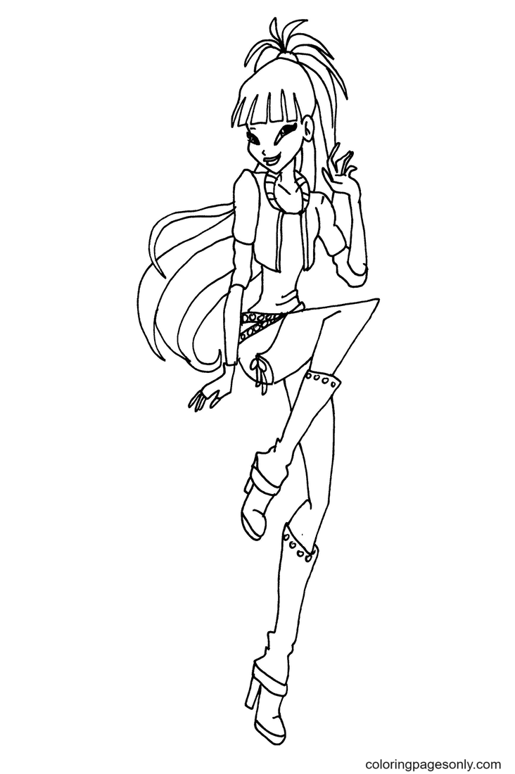 Rock Musa Coloring Page