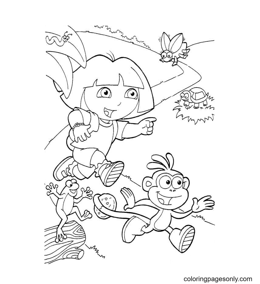 Running for a discovery Coloring Page