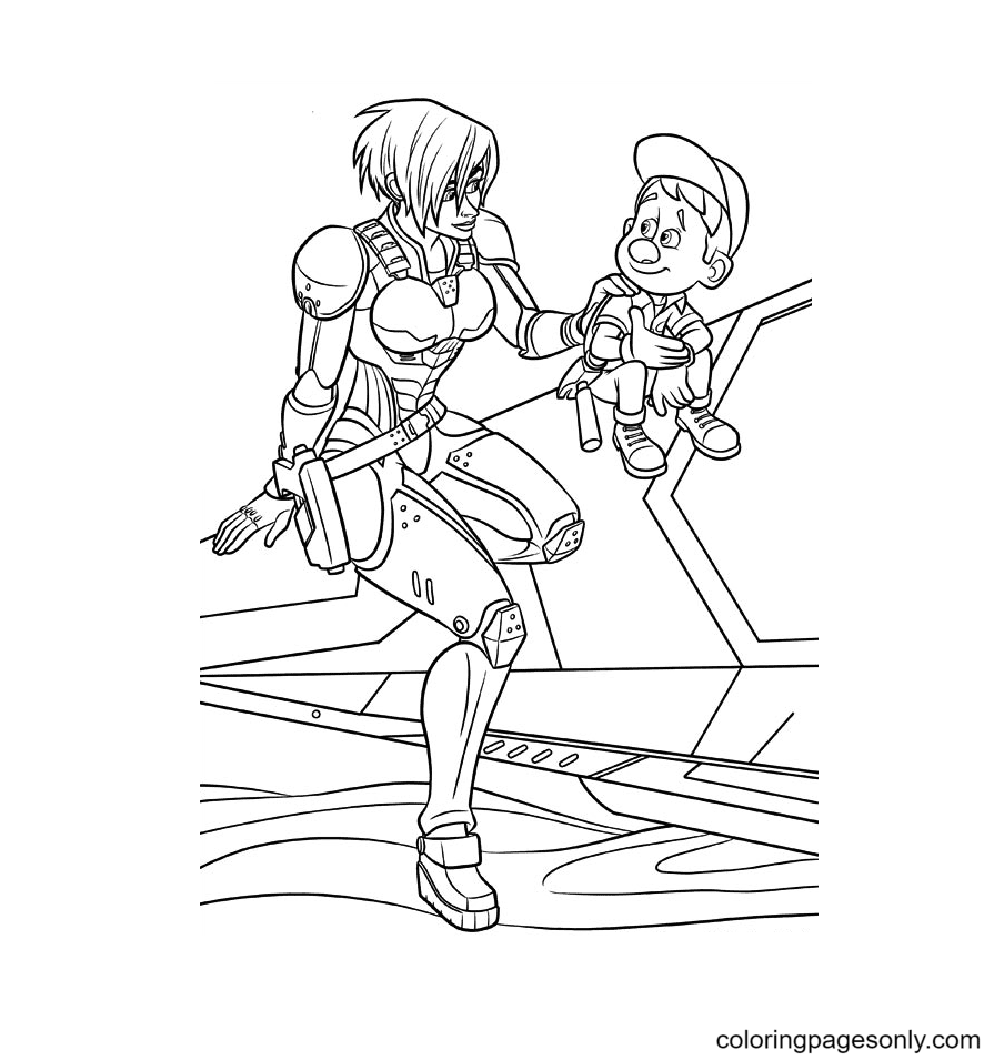Sergeant Calhoun And Felix Coloring Page