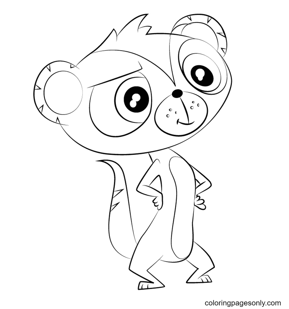 Shahrukh from Littlest Pet Shop Coloring Page