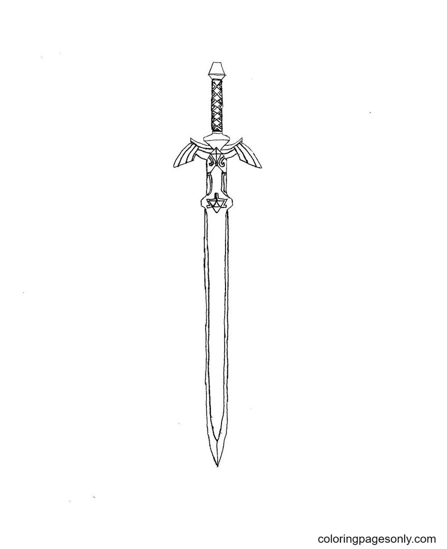 Sharp Sword Coloring Page