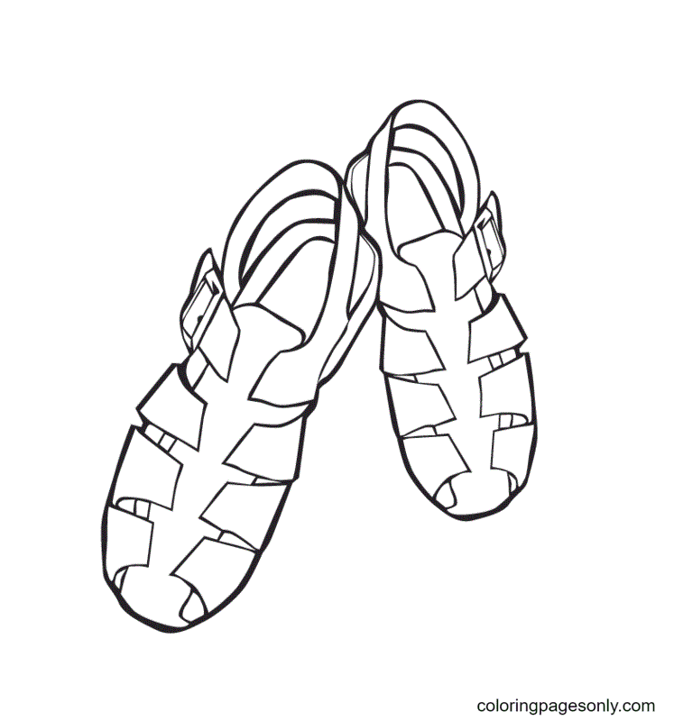 Shoe Printable Coloring Page