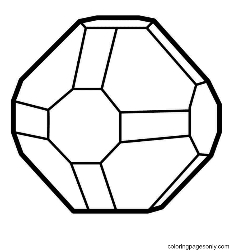Simple Crystal Coloring Page