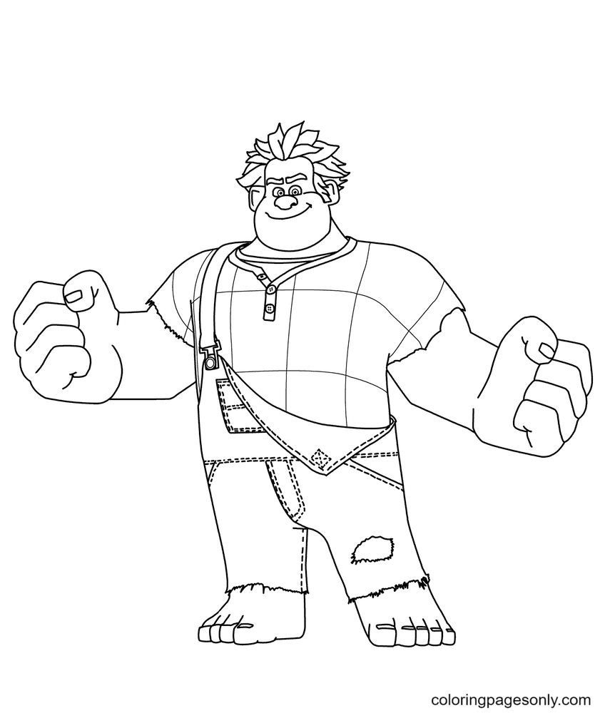 Simple Wreck It Ralph Coloring Page
