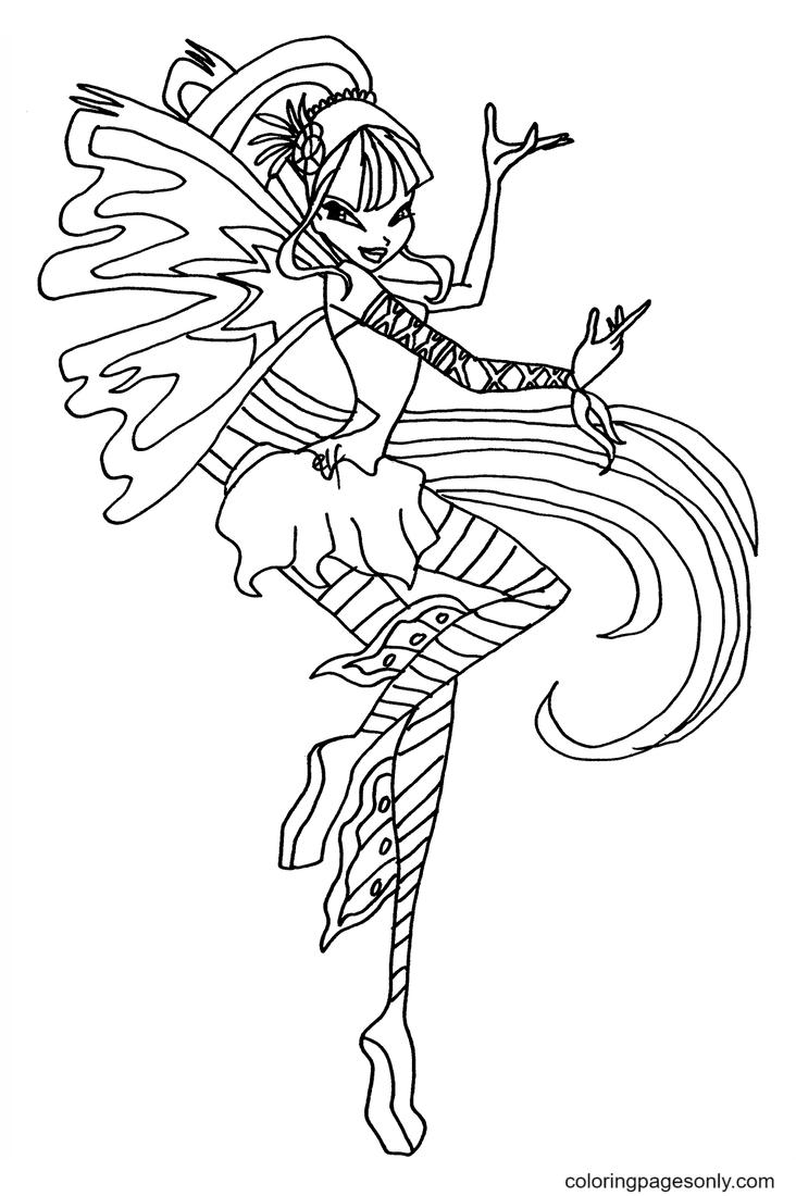 Sirenix Musa Coloring Page