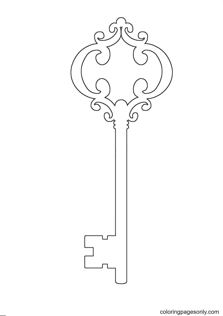 Skeleton Key printable Coloring Page