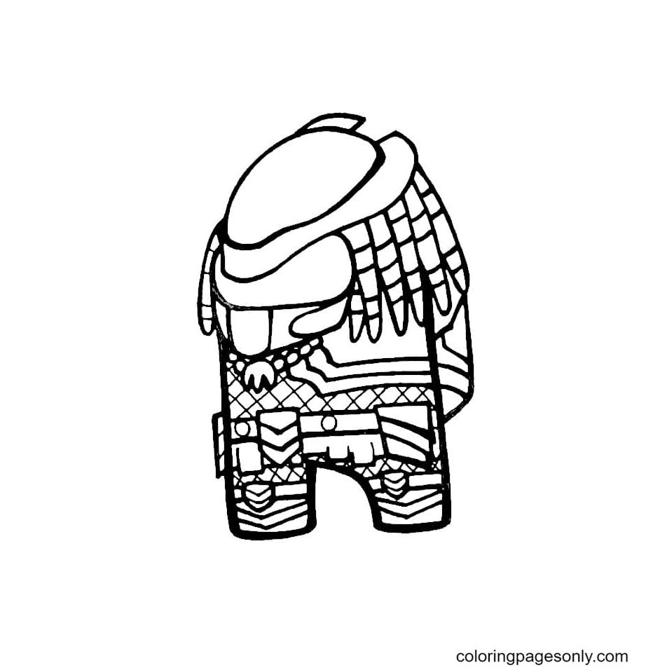 Skin Predator Among Us Coloring Page