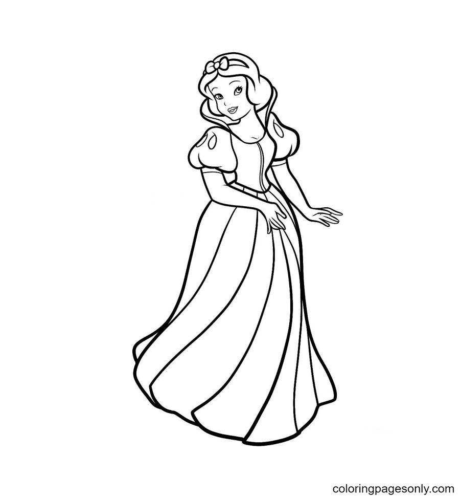 Snow White – First Disney Princess Coloring Page