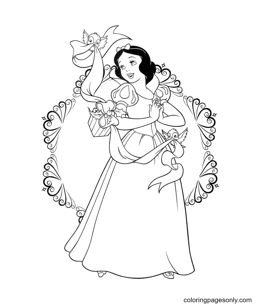 Snow White's Beautiful Coloring Page