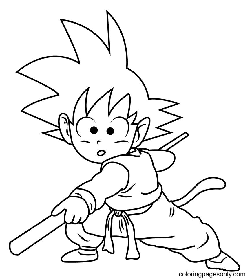Son Gokou Coloring Page