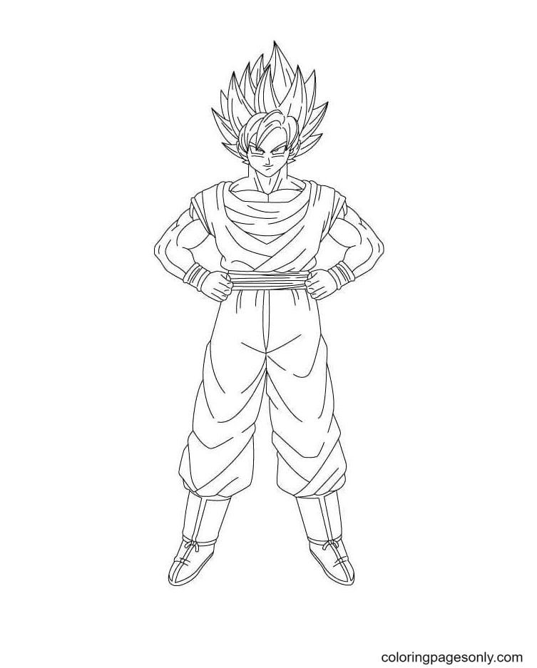 Son Goku Dragon Ball Coloring Page