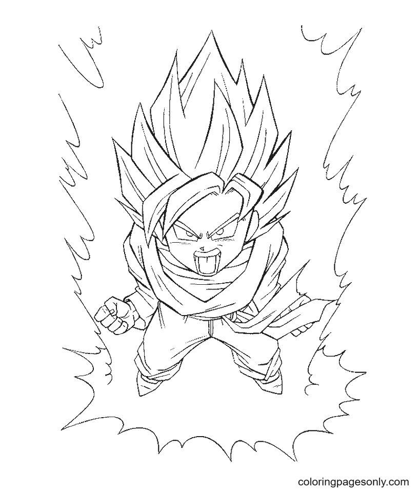 Son Goku from Dragon Ball Coloring Page