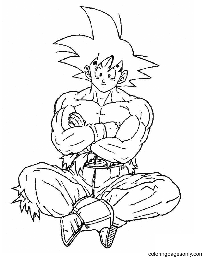 Son Goku in Dragon Ball Z Coloring Page