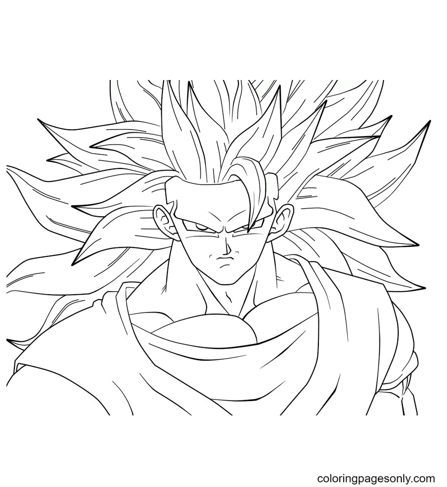 Son Goku in Dragon Ball Coloring Page