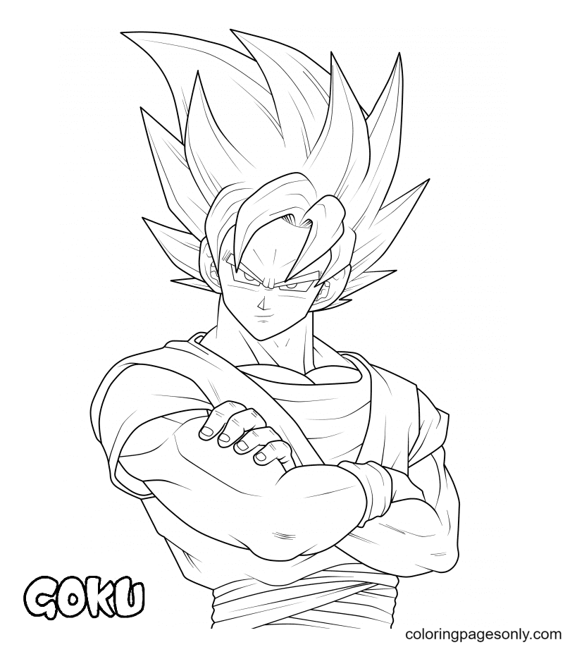 SonGoku in Dragon Ball Coloring Page