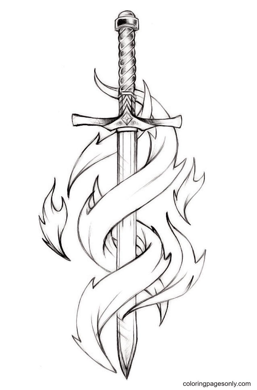 Special Sword Coloring Page