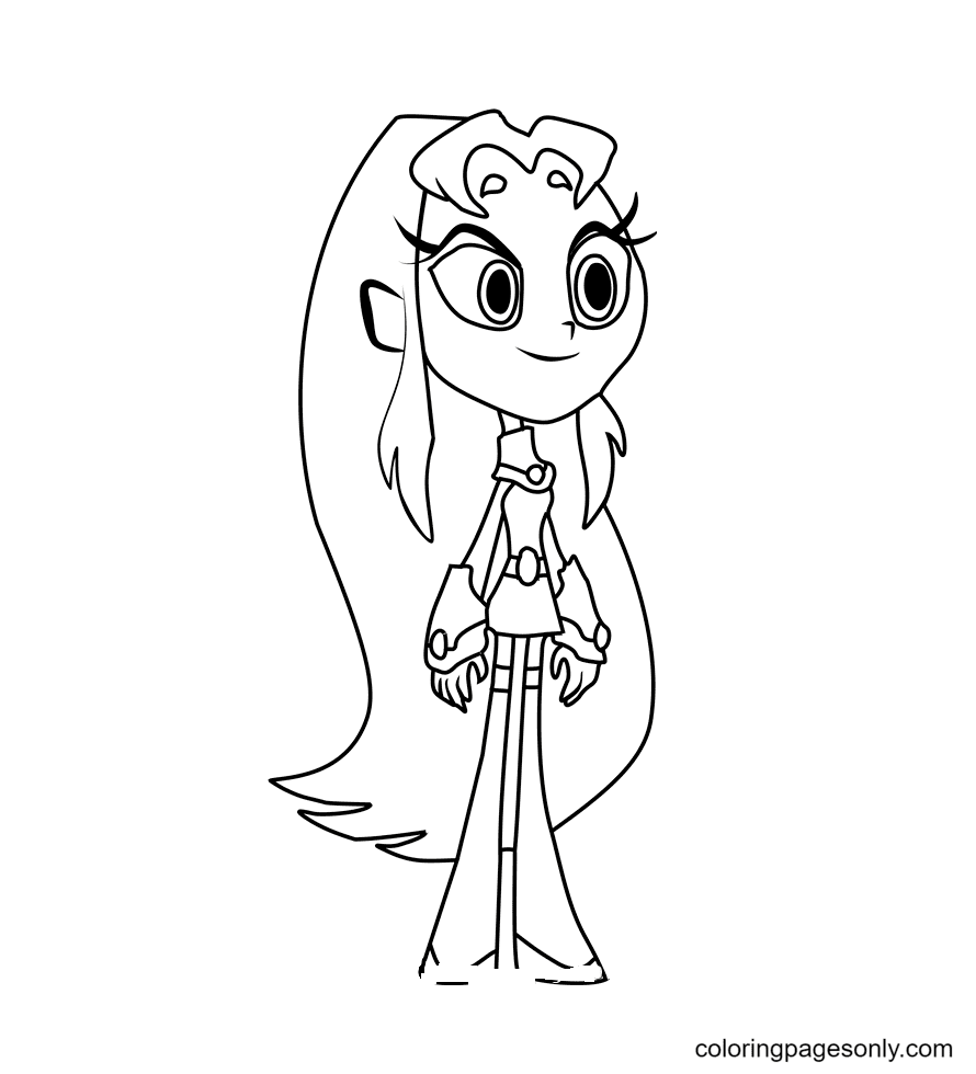 Starfire Coloring Page