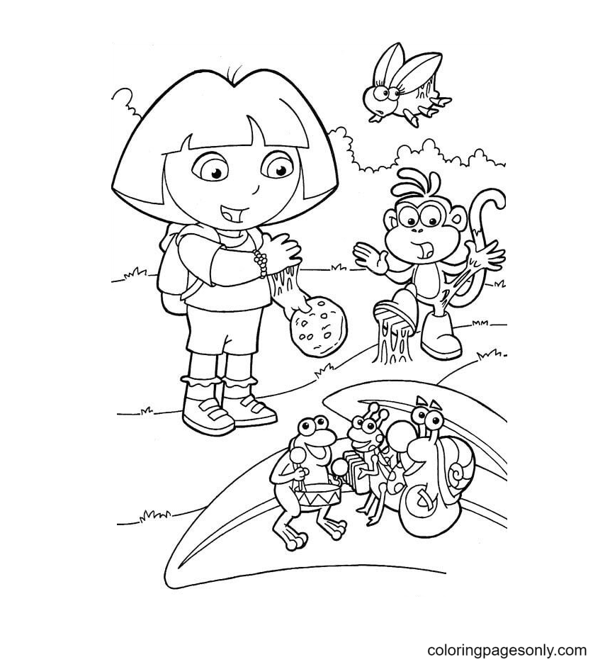 Sticky Cookie Coloring Page