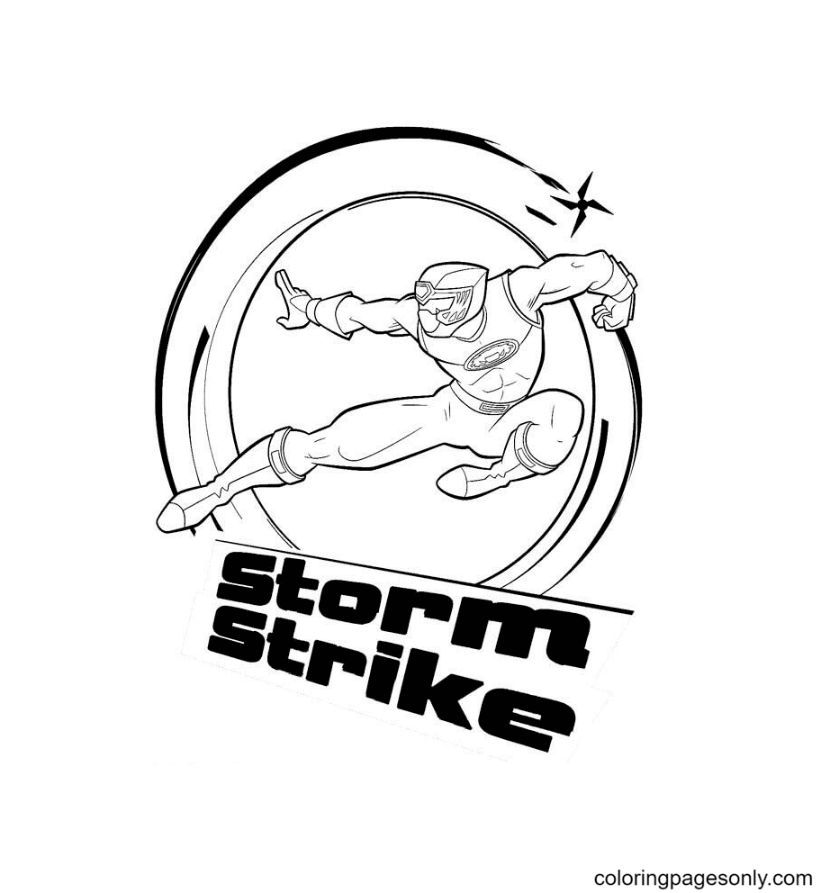 Storm Strike Power Ranger Coloring Page