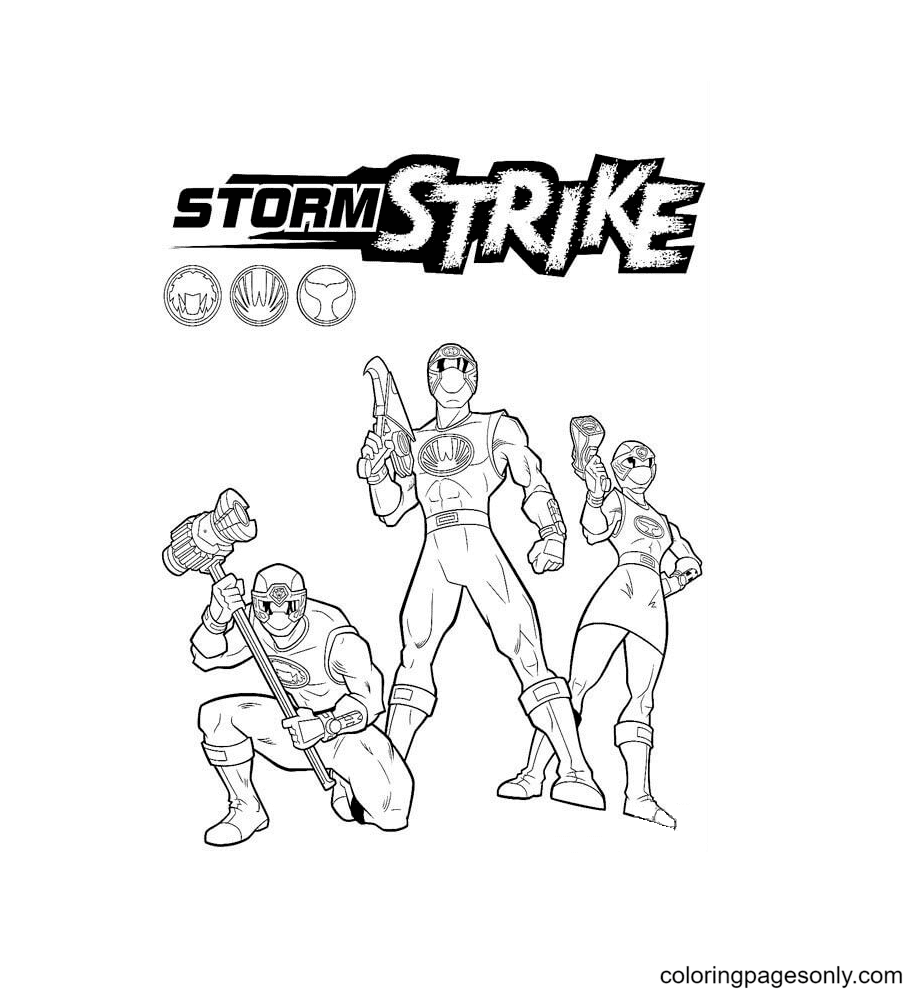 Storm Strike Coloring Page