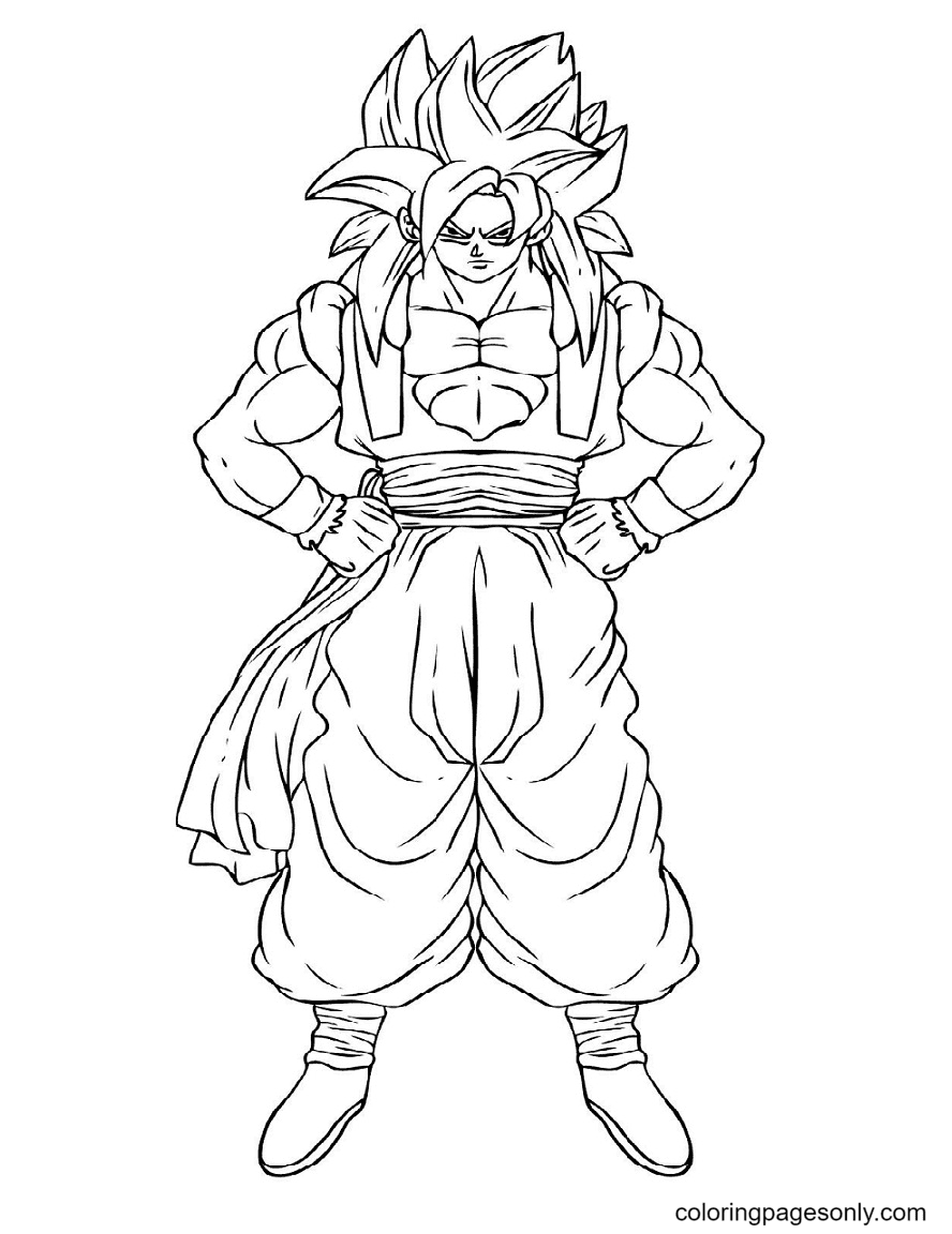 Strong Goku Coloring Page