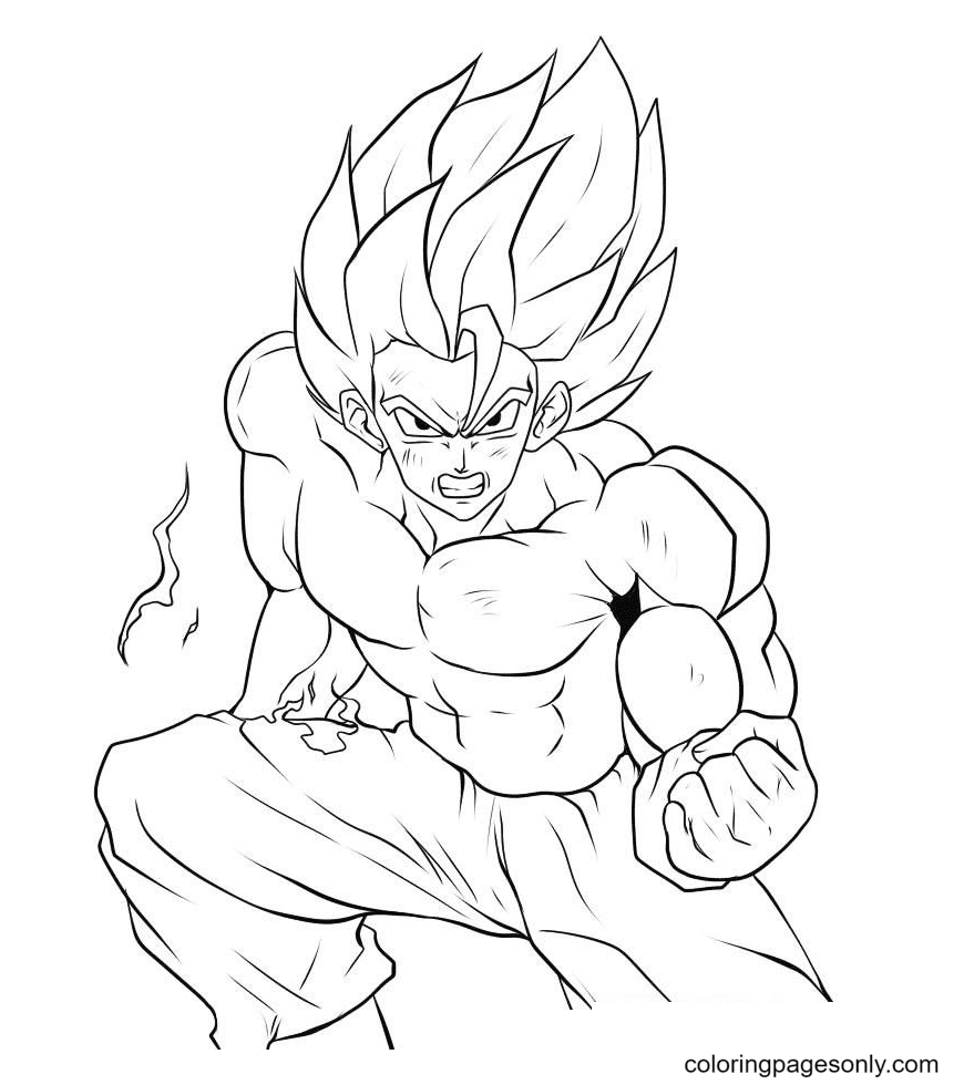 Strong Son Goku DBZ Coloring Page