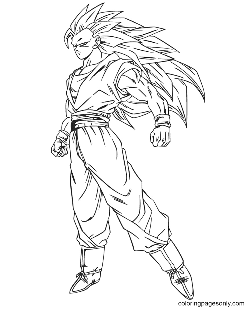 Strong Son Goku Coloring Pages