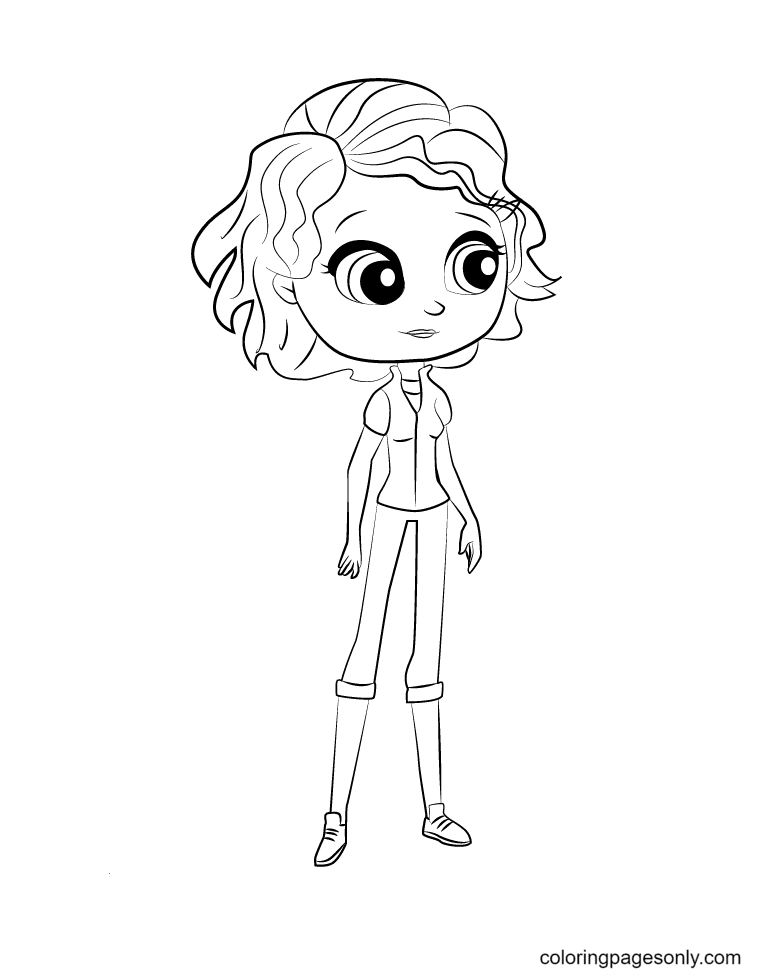 Sue Patterson from Littlest Pet Shop Coloring Page