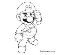Super Mario Bros Coloring Page