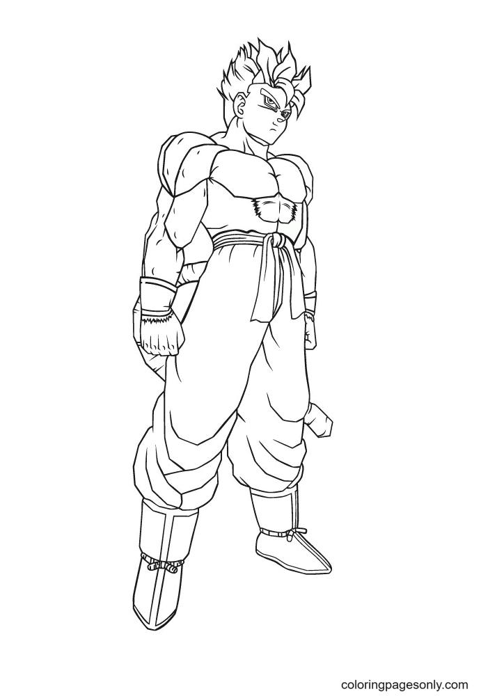 Super Saiyan Goku Coloring Page