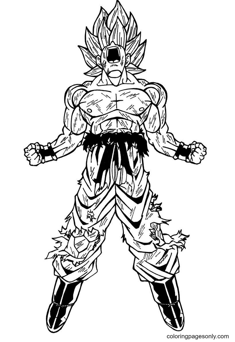 Super Saiyan Gokuu Coloring Pages
