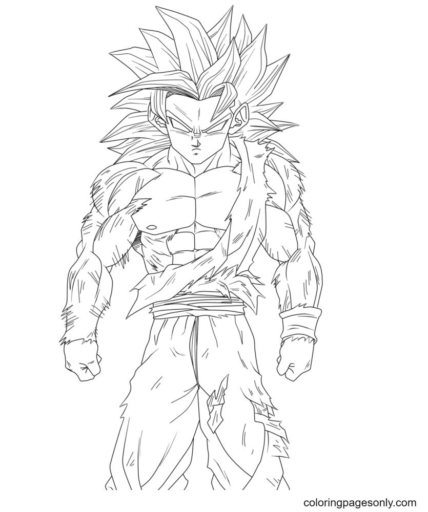 Super Saiyan Son Goku Coloring Page
