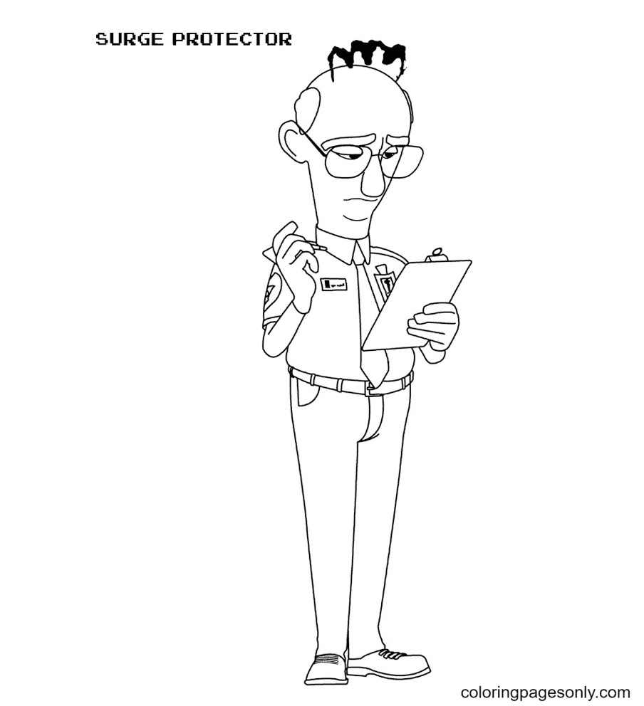 Surge Protector Coloring Page