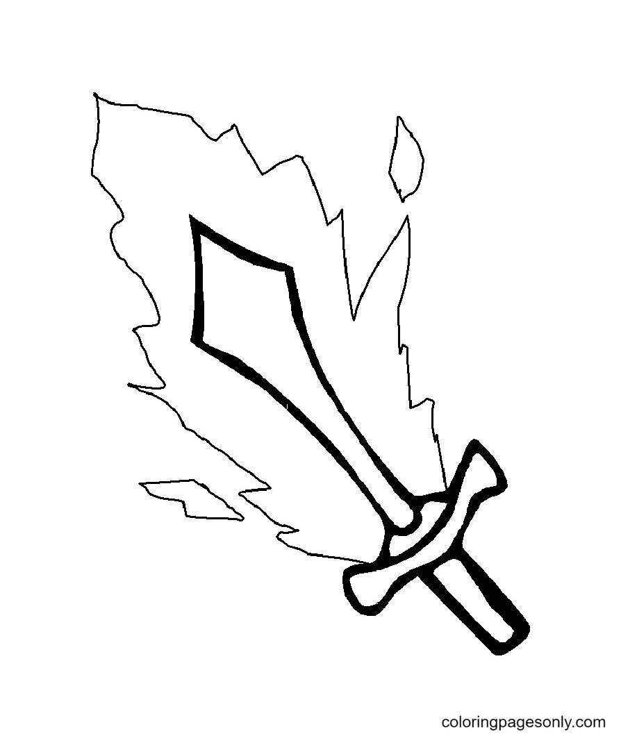 Sword of Fire Coloring Page