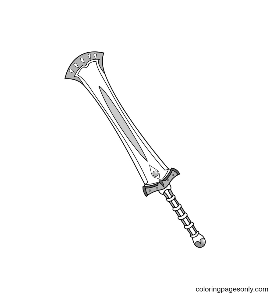 Sword to download free Coloring Page
