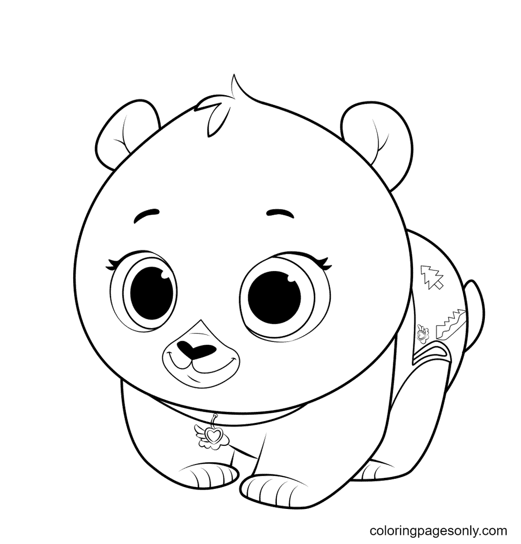 TOTS Baby Bear Coloring Page