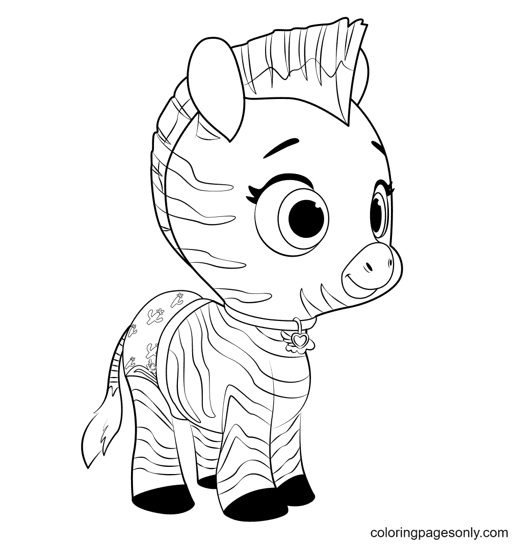 TOTS Baby Zebra Coloring Page