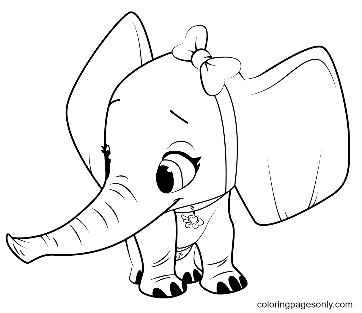TOTS Elephant Coloring Page