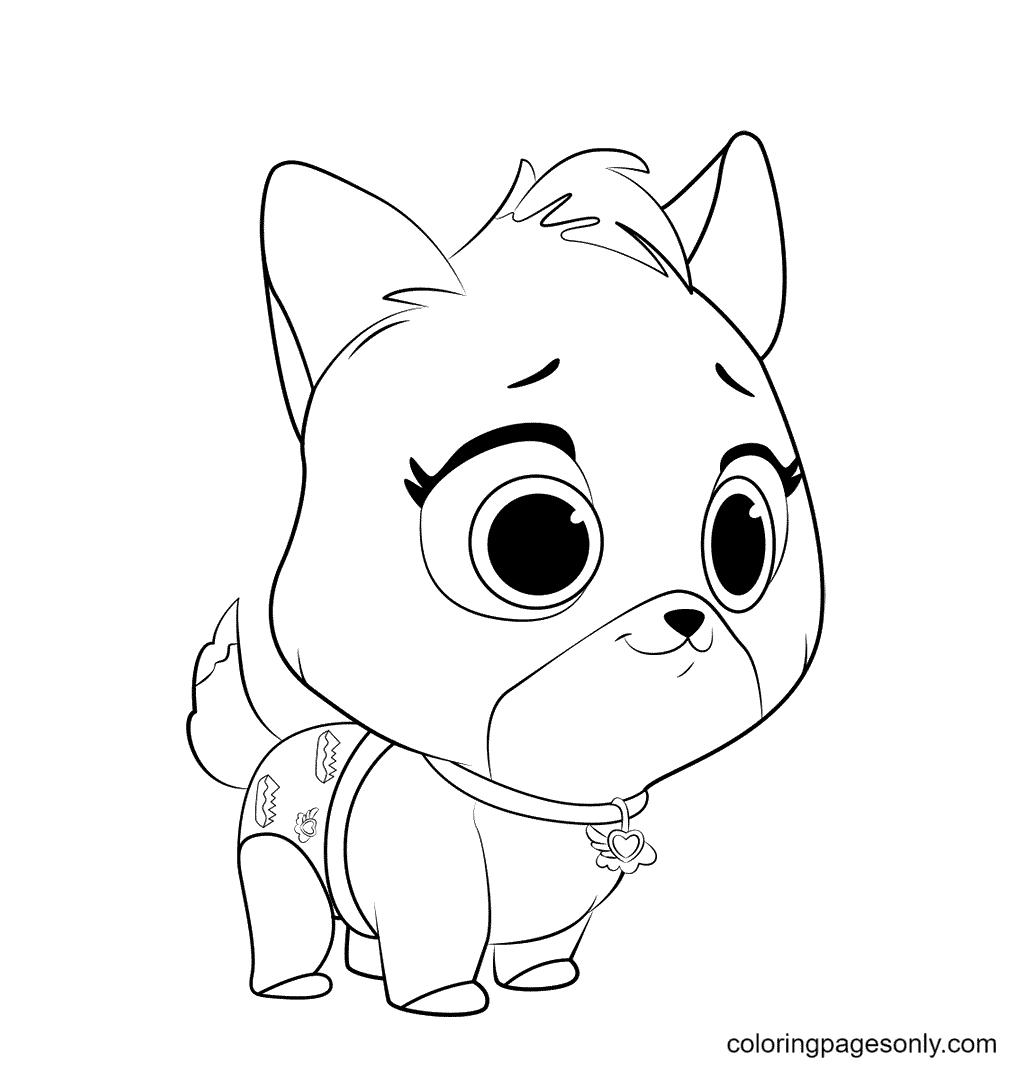 TOTS Kitten Coloring Page
