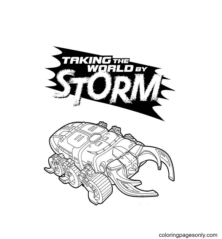 Taking the world by Storm Coloring Page