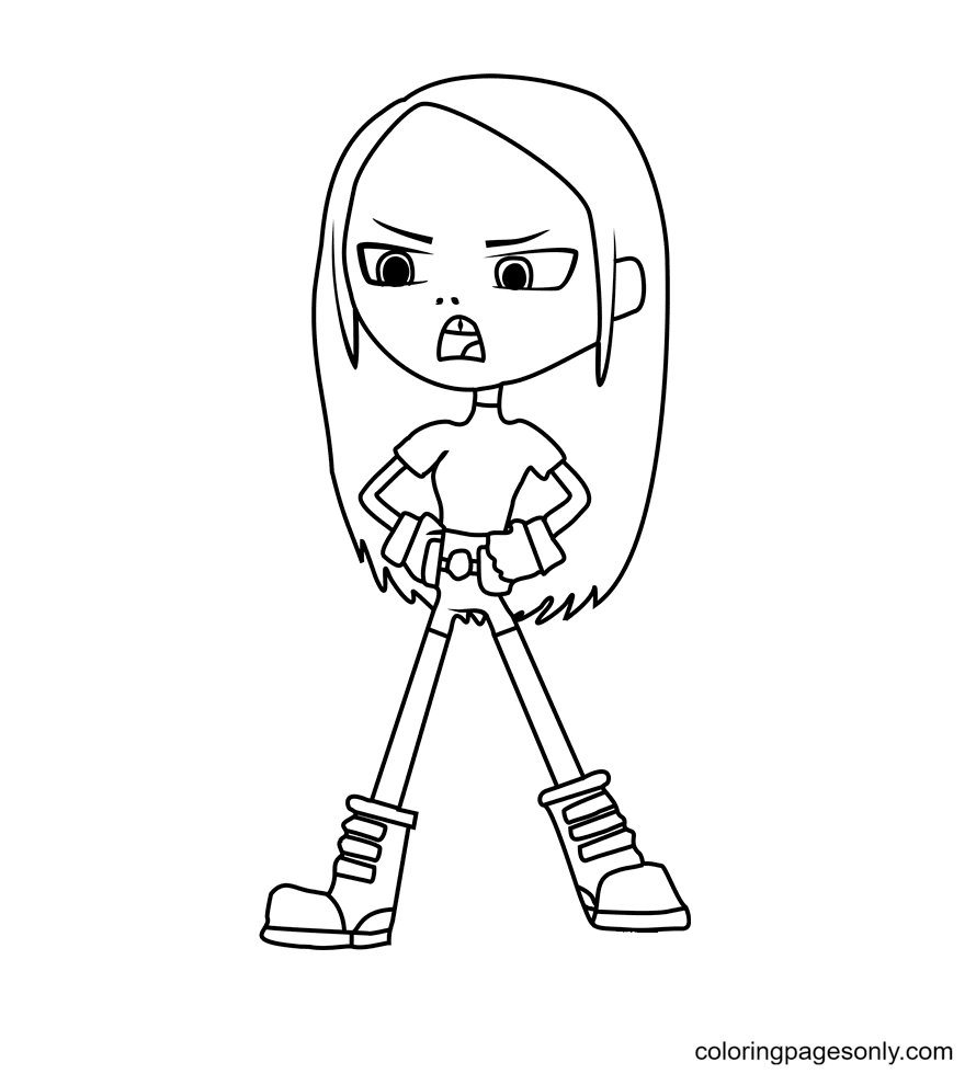 Terra Coloring Page