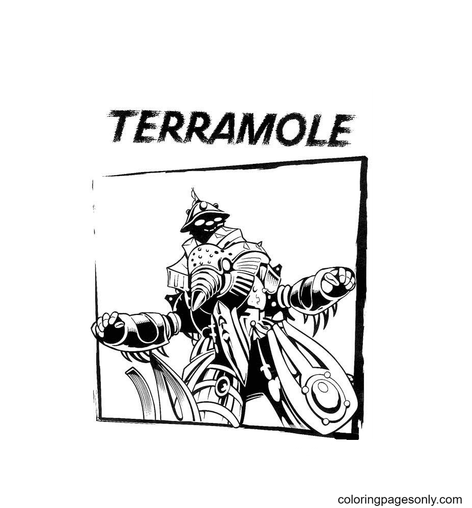 Terramole Coloring Page