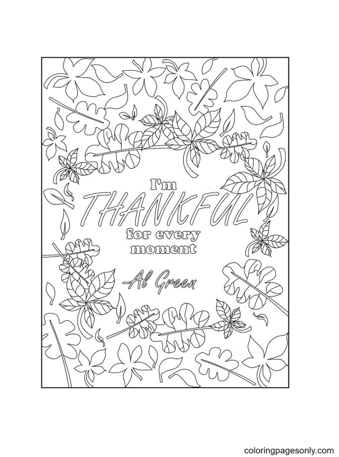 Thanhkful for every Moment Coloring Page
