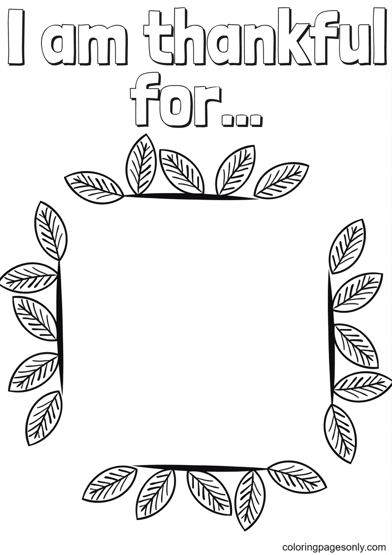 Thanhkful for Coloring Page