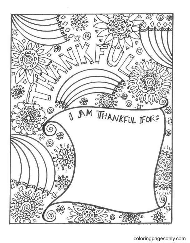 Thanhkful Coloring Page