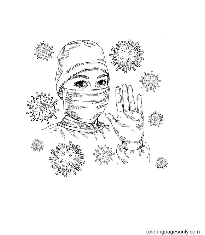 Thank You Doctor Coloring Page