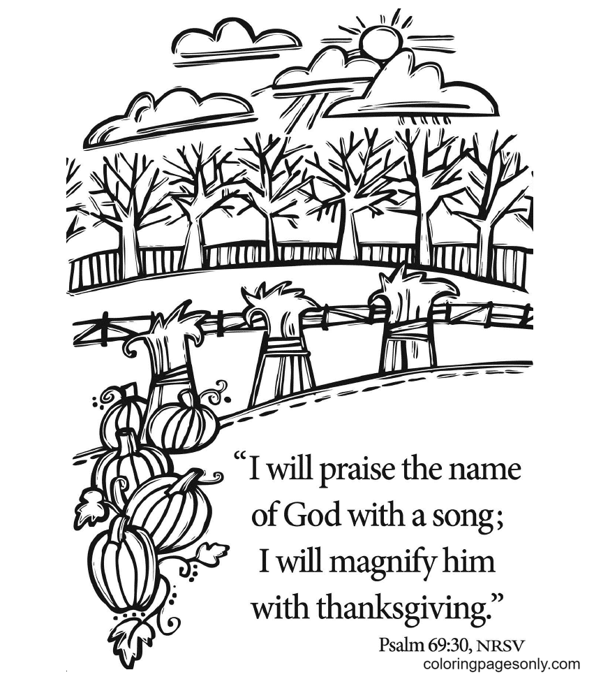 Thanksgiving bible Coloring Page